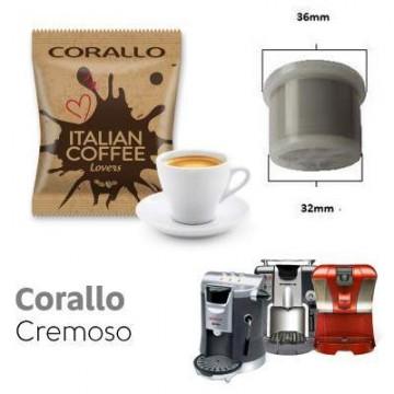 Espresso Cap/Due/Gimoka/Squesito Compatible Corallo Cremoso 50 ud