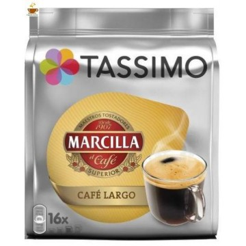Tassimo Marcilla Café Largo 16 bebidas
