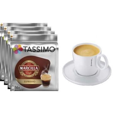 Tassimo Marcilla Expresso 4 Packs +1 Taza