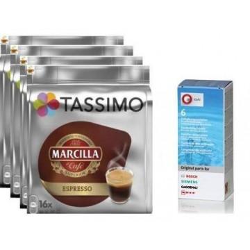 AHORRO Marcilla Espresso 4 ud+ Descalcificador
