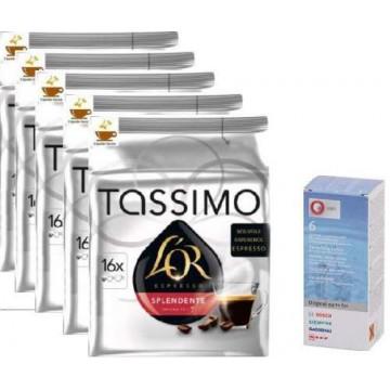 Tassimo L`Or Splendente 80 Cápsulas+ Descalcificador