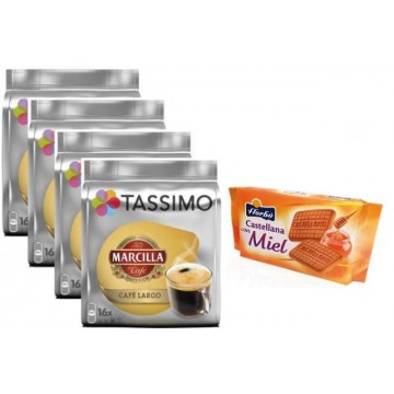 Tassimo Marcilla Largo 4 Packs +Galletas