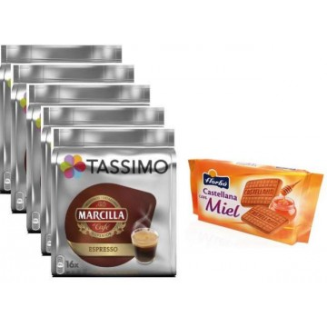 Tassimo Marcilla Expresso 4 Packs +Galletas