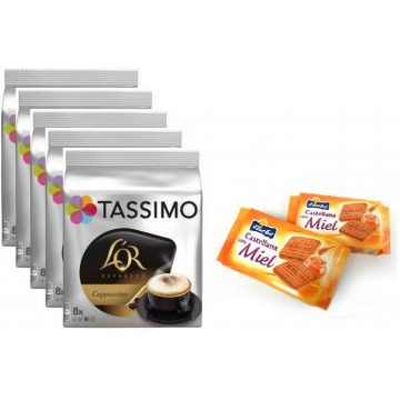 Tassimo L`Or Capuchino 5 Packs + Galletas