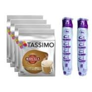 TASSIMO SAIMAZA CAFE CON LECHE 80 T DISCS + 50 VASOS