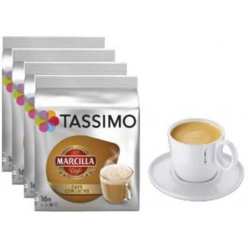 Marcilla Café Con Leche 4 Packs +1 Taza Tassimo