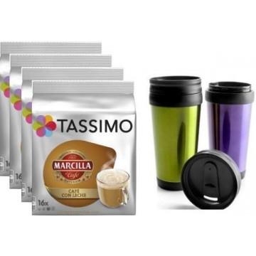 Tassimo Café Con Leche 64 T Discs + VASO Térmico