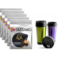 TASSIMO LONG DELICAT 5 PACKS + VASO TERMICO