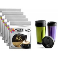 TASSIMO CAPUCHINO 5 PACKS + VASO TERMICO