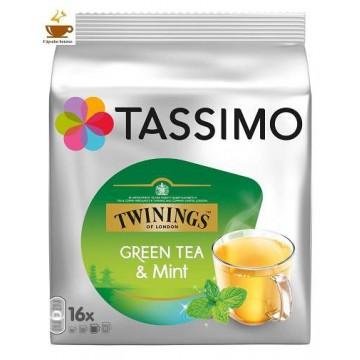 Cápsulas Tassimo Té Verde con Menta 16 Bebidas