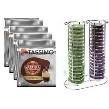 Tassimo Marcilla Expresso 64 bebidas + Dispensador