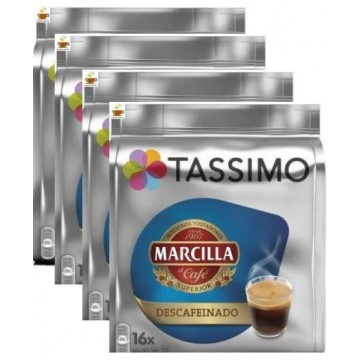 Capsulas Tassimo Marcilla Descafeinado 4 Packs