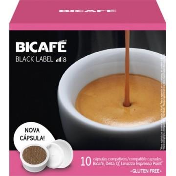 Bicafe Compatibles Delta Q(*) Black Label 10 ud