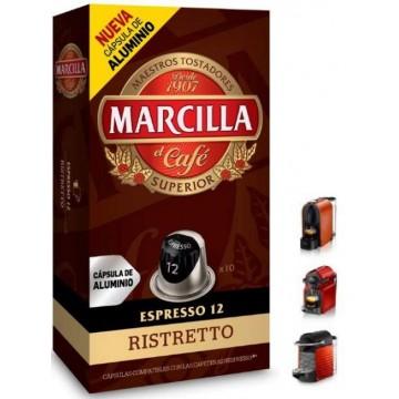 Capsulas Café Marcilla Ristretto 10 ud