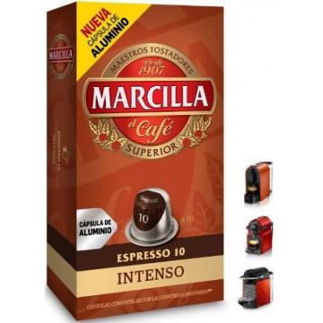 Capsulas Marcilla Intenso Nespresso 10 ud