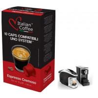 Cremoso Espresso Cap/Uno System  10 Capsulas