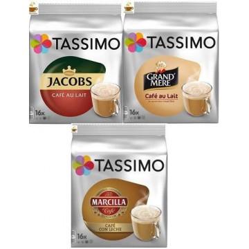 Degustación Capsulas Tassimo Café Con Leche 3 Packs