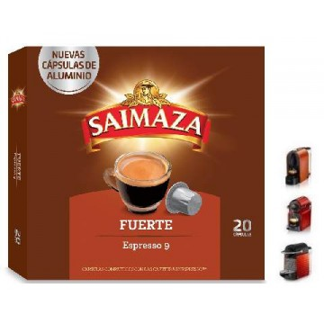 Saimaza Fuerte 20 Cápsulas de Café para Nespresso