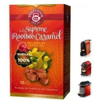 Pompadour Supreme Rooibos Caramel 10 Infusiones