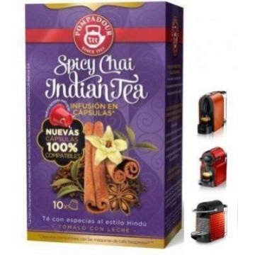 Pompadour Spicy Chai Indian Te 10 Capsulas