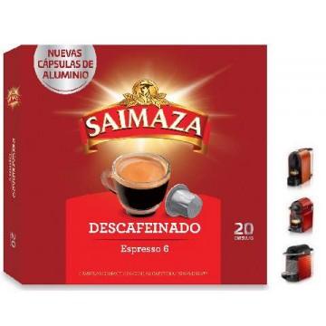 Saimaza Descafeinado 20 Cápsulas para Nespresso