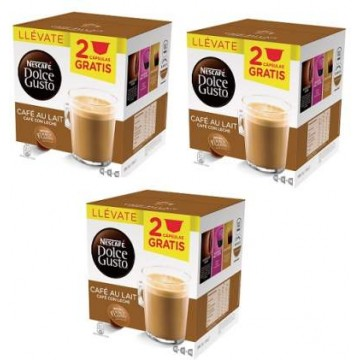 Dolce Gusto Cafe au Lait 48 + 6 Capsulas GRATIS
