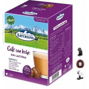 Capsulas Cafe con Leche sin Lactosa Asturiana