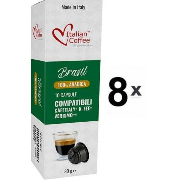 Caffitaly Capsulas 100% Arabica Brasil 80 Ud