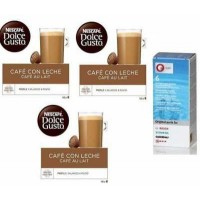 Dolce Gusto Cafe Con Leche 3 Packs+Descalcificador