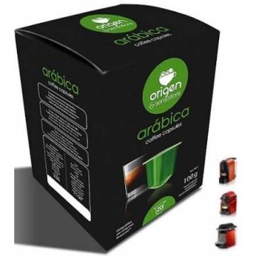 Compatibles Nespresso® Origen Arábica 20 ud