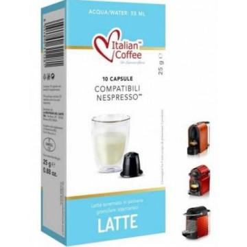 Leche Nespresso Compatibles 10 Capsulas