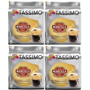 Capsulas Tassimo Marcilla Café Largo 4 Packs