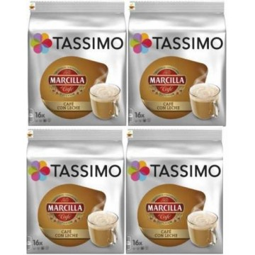 Capsulas Tassimo Marcilla Café Con Leche 4 Packs