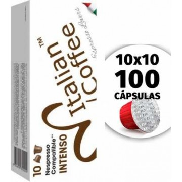 Compatibles Nespresso Krups Intenso 100 Capsulas