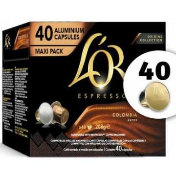 L`Or Espresso Colombia 40 Cápsulas Aluminio