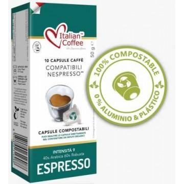 Compostables Cremoso 10 Capsulas Nespresso