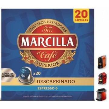 Capsulas Marcilla Descafeinado 20 ud