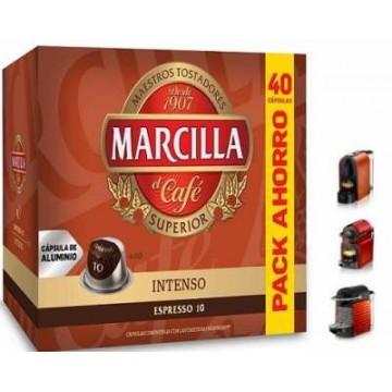 Marcilla Intenso 40 Cápsulas Aluminio Nespresso