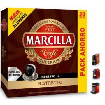 Café Marcilla Ristretto 20 Capsulas Nespresso