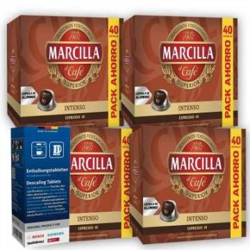 Marcilla Intenso 160 Cápsulas + Descalcificador