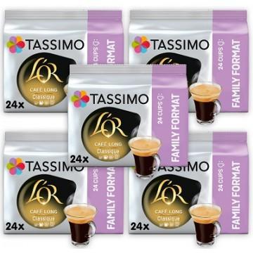 120 Capsulas Tassimo L'OR Café Long Classique