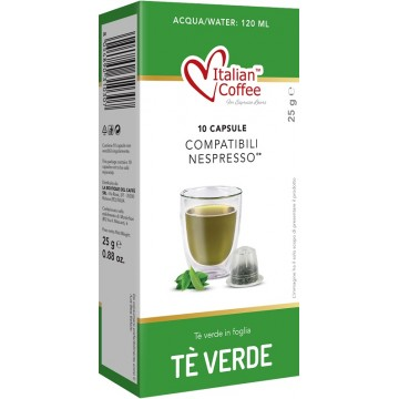 10 Cápsulas de Te Verde Nespresso Compatibles
