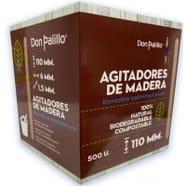 500 Paletinas de Cafe de Madera Desechables