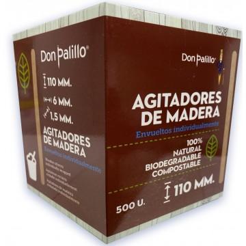 1000 Paletinas de Cafe de Madera Desechables