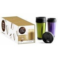 DOLCE GUSTO CAFE CON LECHE 3 PACKS+1 VAO TERMICO DOBLE PARED